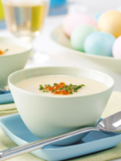 Cauliflower Soup with Golden Caviar