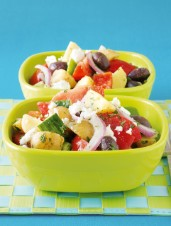 Greek Salad with Mini New Potatoes