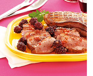 Duck Breast with Blackberries