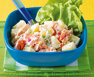 Salmon Potato Salad with Horseradish Cream
