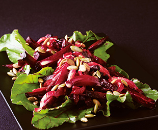 Roasted Beet Salad with Pumpkin Seeds