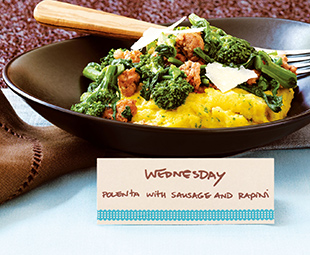 Polenta with Sausage and Rapini