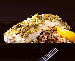 Tilapia with Pumpkin Seed Crust