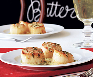Scallops In Herb Butter Sauce