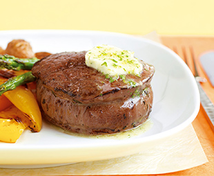 Tenderloin Steaks with Lime Butter