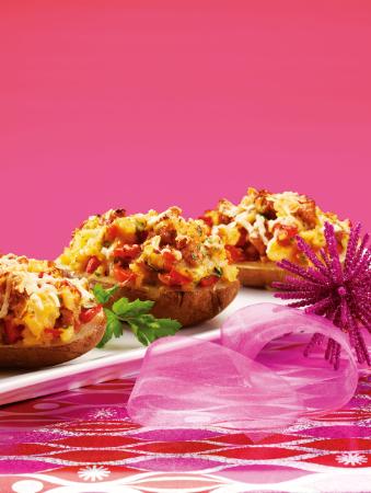 RECIPE - Sausage-Stuffed Baked Potatoes