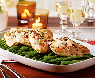 Seared Chicken and Green Beans Amandine