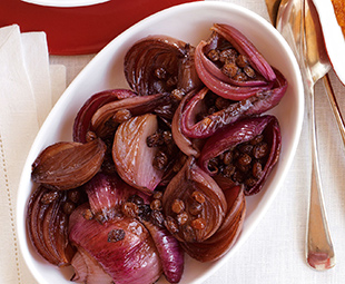 Roast Onions with Port Balsamic Glaze