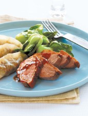 Five-Spice Duck Breasts with Duck Confit Dumplings