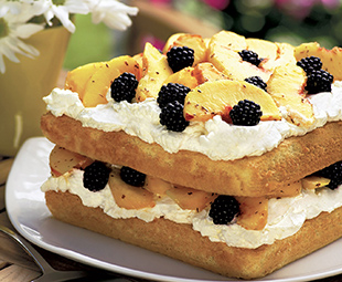 Rooibos Peach Blackberry Shortcake