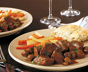 Beef with Cabernet Sauce