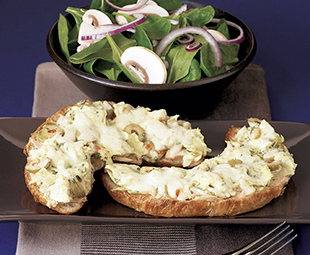 Open-Faced Tuna Melts with Artichokes and Provolone