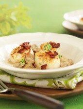 Seared Scallops With Whisky-Mushroom Sauce