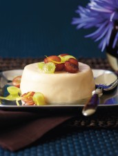 Sour Cream Panna Cotta with Macerated Grapes