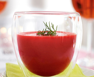 Tomato and Beet Yoghurt Soup