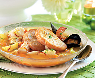Bouillabaisse with Garlic Croutons