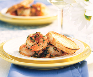 Shrimp with Warm Tomato and Herb Butter