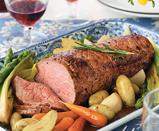 Roast Veal with Braised Vegetables