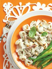 Chicken Caesar Tortellini with Toasted Almonds