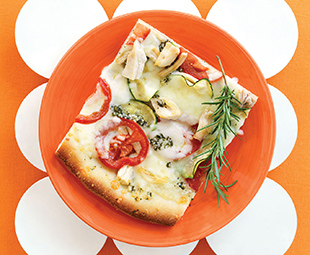 Free-Form Pizza with Zucchini, Chicken and Rosemary