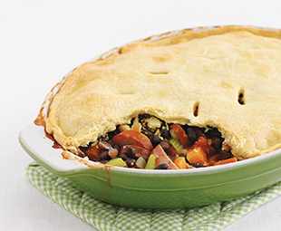 Black Bean and Bacon Chili Pot Pie
