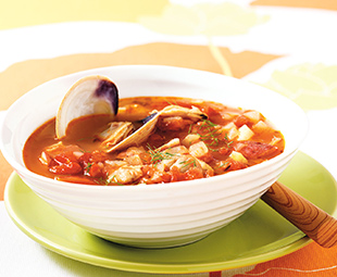 Spiced Manhattan Clam Chowder
