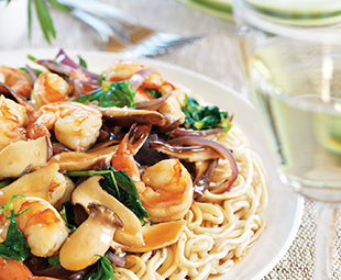 Shanghai Shrimp and Mushrooms