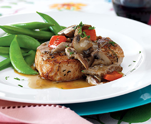 Pork Chops in Exotic Mushroom Sauce