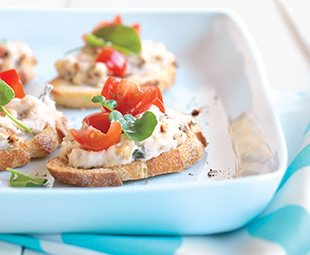 White Bean & Tomato Bruschetta