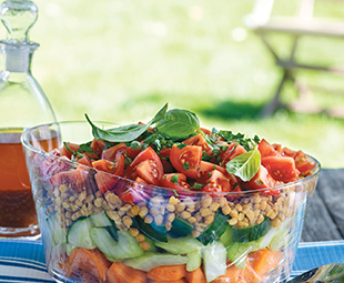 Fresh Layered Lentil Salad