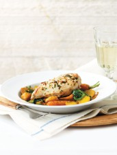 Pan-Roasted Tarragon Chicken with Seasonal Vegetables
