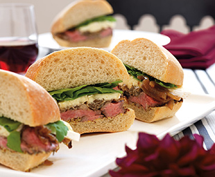 Seared Steak & Brie Sandwiches