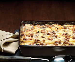 Scalloped Potatoes with Porcini & Bacon