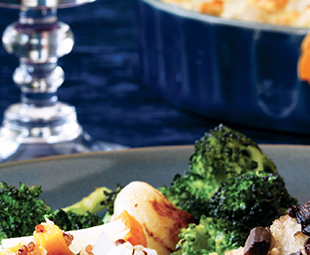 Roasted Broccoli with Cipollini Onions