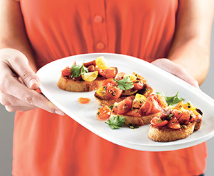 Spicy Cherry Tomato Bruschetta