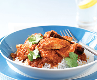 Saffron-Spiced Tomato Chicken