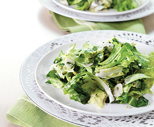 Raw and Cooked Escarole with Garlic and Herbs