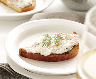 Smoked Salmon Spread with Brioche Toasts