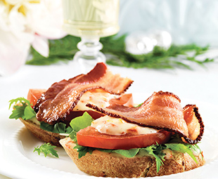 BLT Tea Sandwiches with Sun-Dried Tomato Mayonnaise