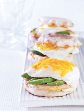 Fried Egg Sandwiches with Peameal, Chipotle & Avocado