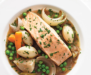 Poached Salmon with Spring Vegetables