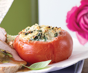 Stuffed Tomatoes with Cheese & Artichokes