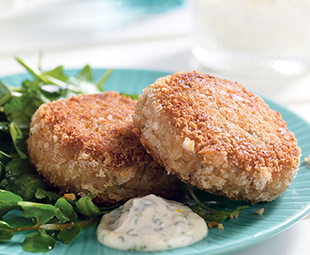 Classic Crab Cakes with Lemon Mayo