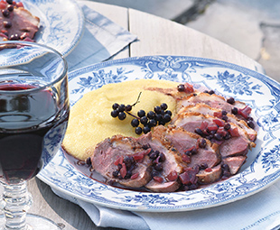 Grilled Duck Breasts with Elderberry & Balsamic Sauce