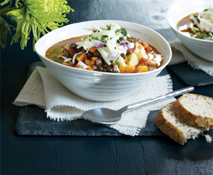 Black Bean Chili with Fall Root Vegetables