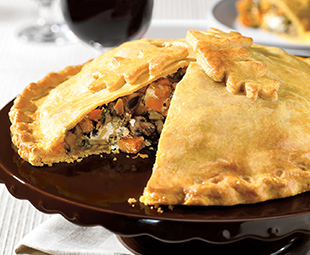 Roasted Butternut Squash and Mushroom Pie with Cheddar Pastry