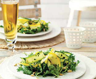 Summer Squash Salad with Pine Nut Vinaigrette