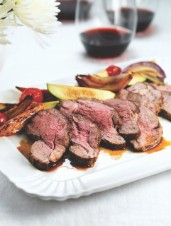 BBQ Lamb with Roasted Vegetables