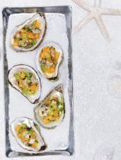 Citrus Oyster Ceviche on the Half-Shell