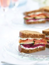 Smoked Salmon & Pickled Beets on Rye